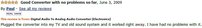 digital audio to analog audio converter customer review 3
